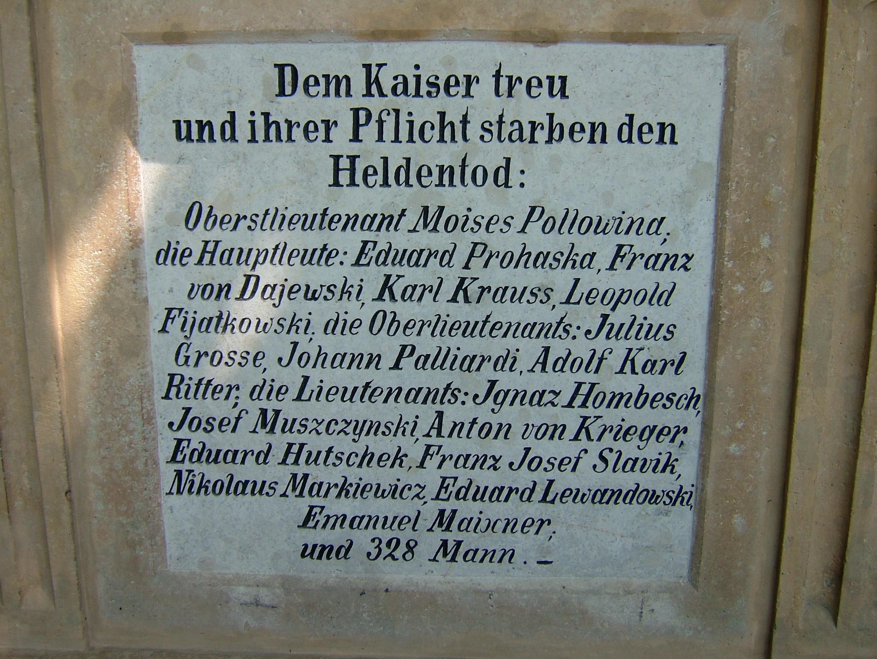 Pomník rakouského pěšího pluku č. 15