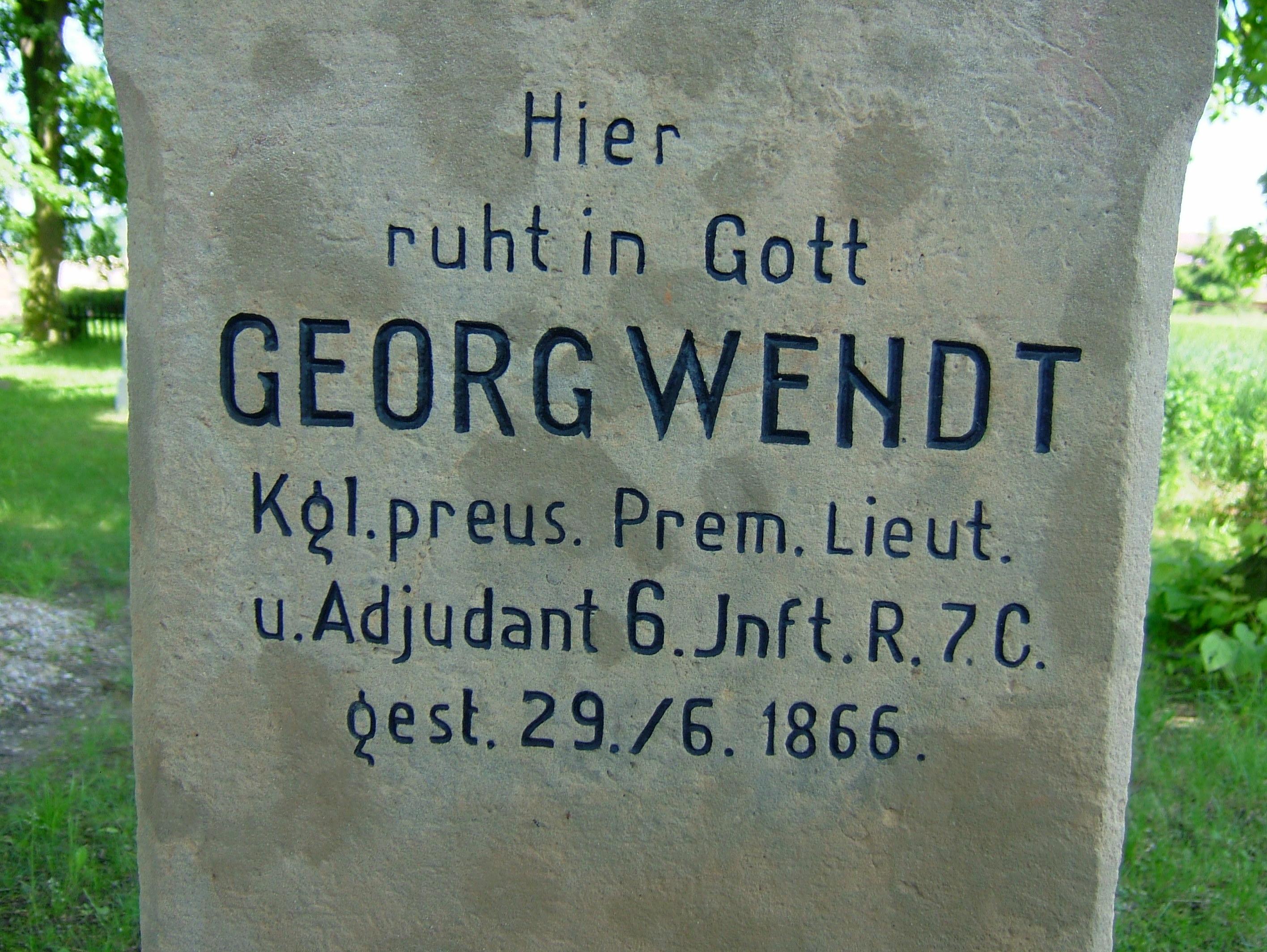Pruský poručík Georg Wendt