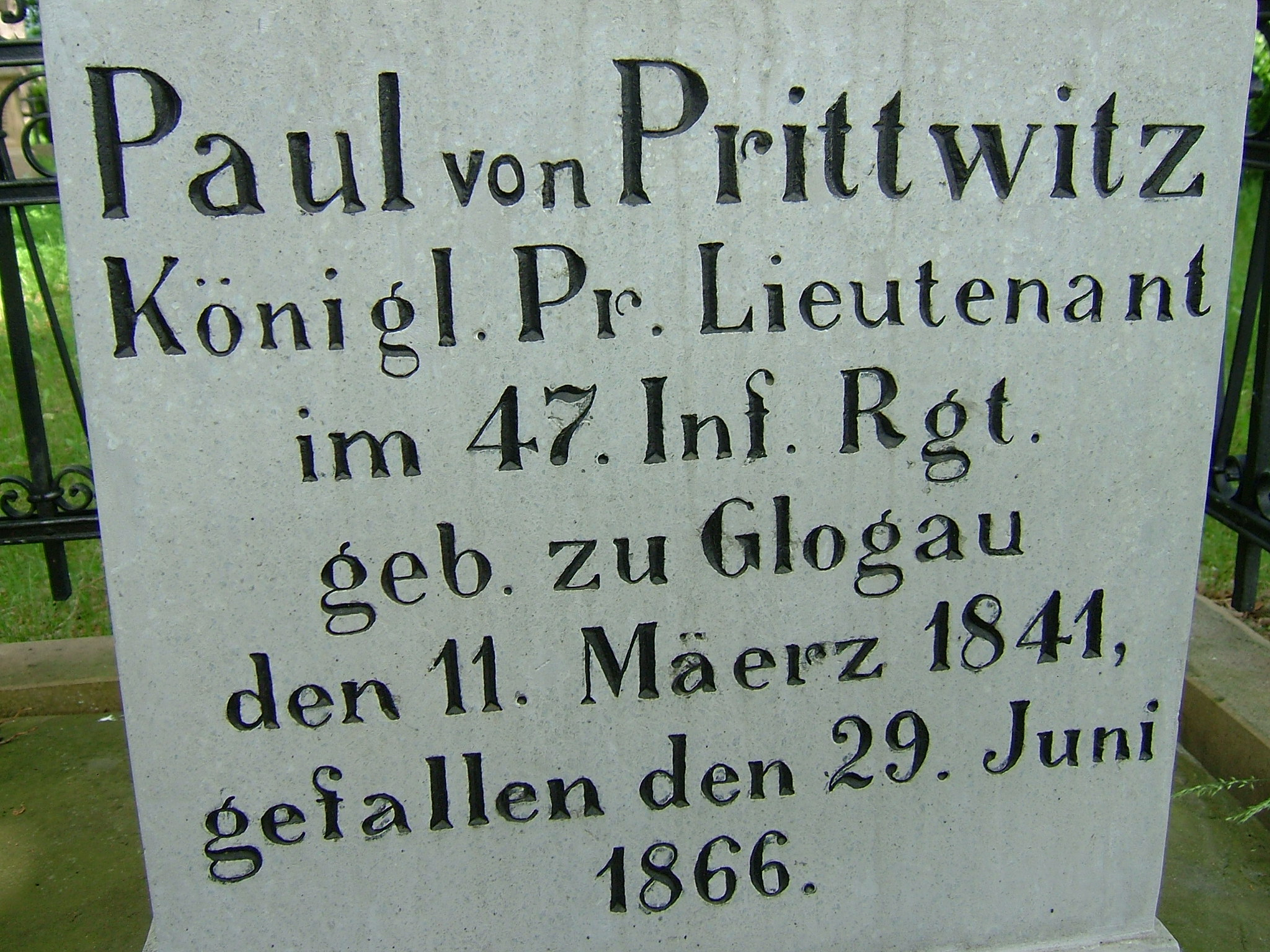 Pruský poručík Paul von Prittwitz