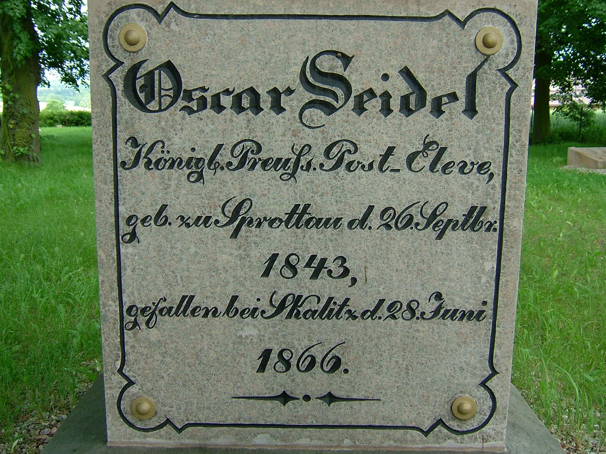 Pruský poštovní elév Oscar Seidl