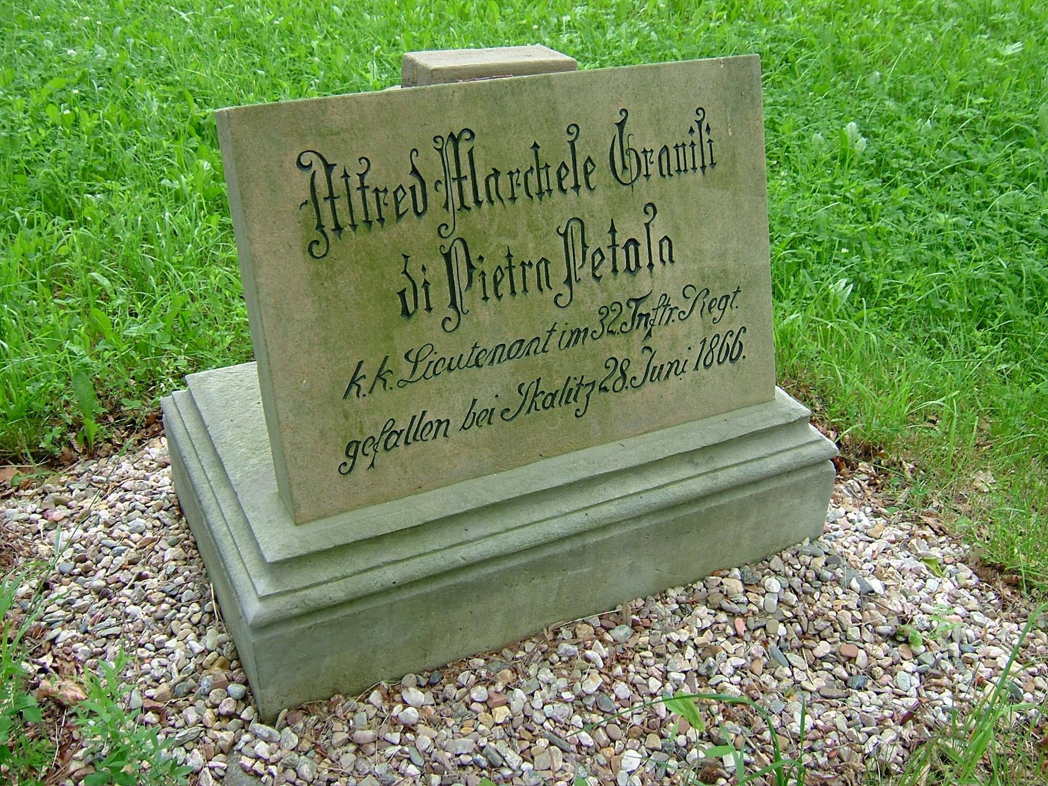 Rakouský podporučík Alfred marchese von Gravisi di Pietra Pelasa
