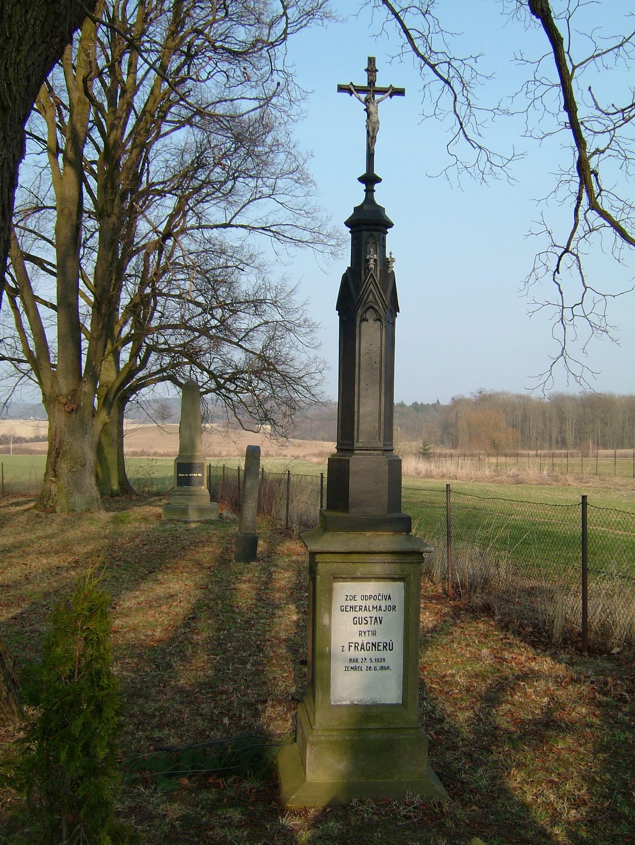 Pomník rakouského generálmajora Gustava von Fragnerna