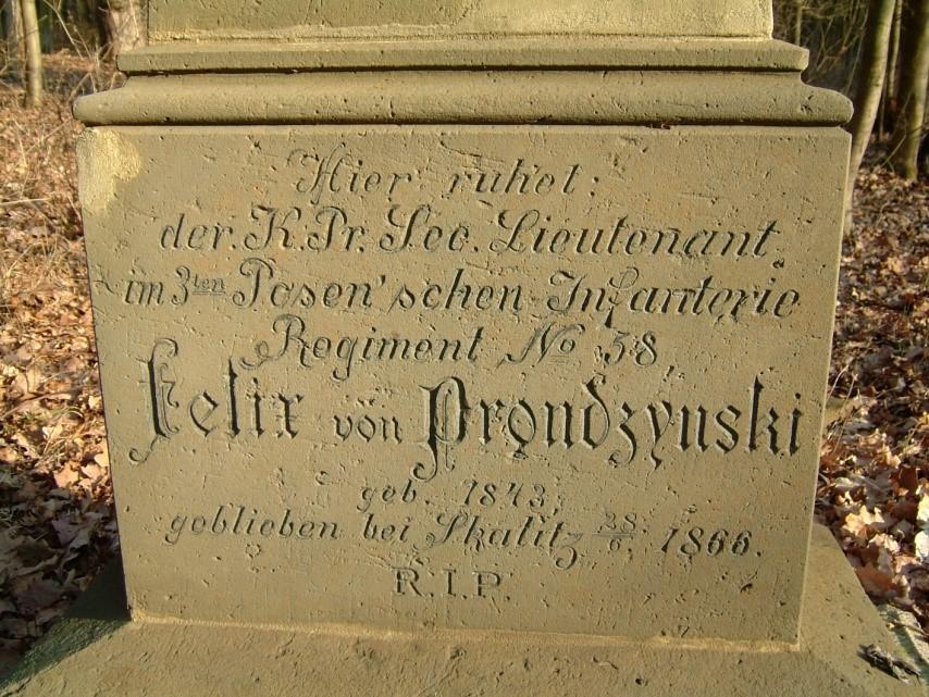 Pruský poručík Felix Prondzynski